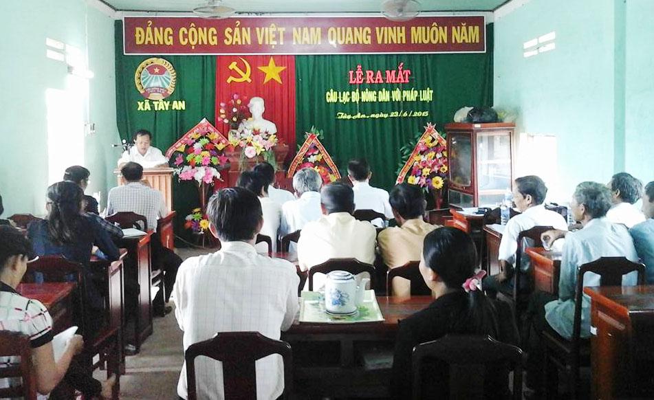 Bình Định: Trợ giúp pháp lý  trên 2.300 buổi cho 132.500 lượt hội viên, nông dân