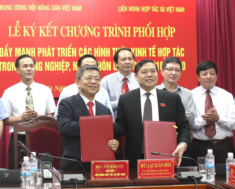 VNFU and VCA signed cooperation program to promote agriculture collective economic development.