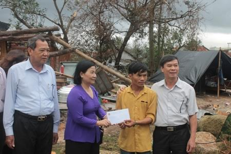 VNFU to visit and support victims of Storm no.12