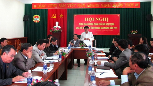 Quang Binh provincial FU: continues to promote the cooperation  programmes with provincial Departments and Agencies in 2019