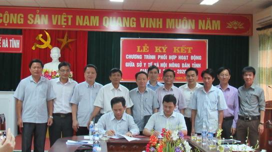 Hội Nông dân Hà Tĩnh: Ký kết chương trình phối hợp chăm sóc sức khỏe nhân dân với Sở Y tế