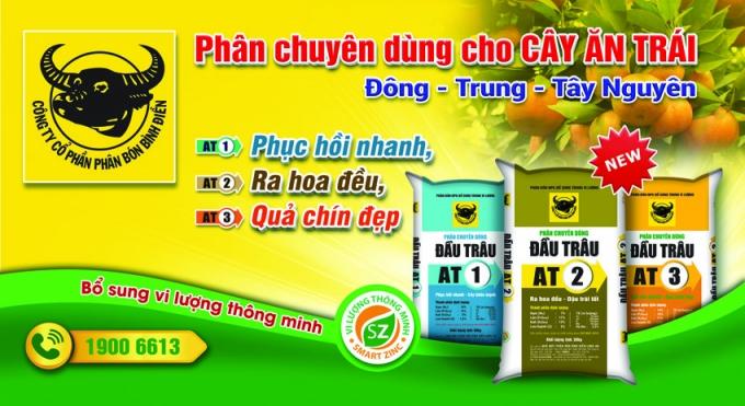 Phân Đầu Trâu chuyên dụng cho cây ăn trái - Sản phẩm chất lượng cao của Phân bón Bình Điền.
