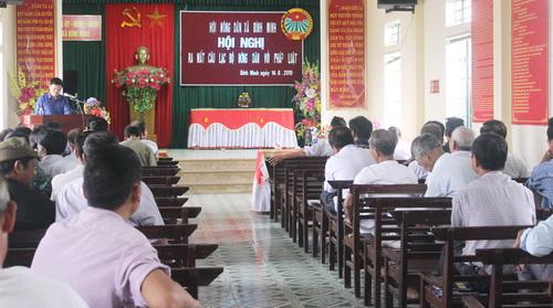 Nam Định: Ra mắt CLB Nông dân với pháp luật tại xã Bình Minh
