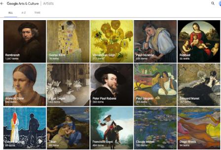 Art and Culture của Google khám phá thế giới nghệ thuật qua online