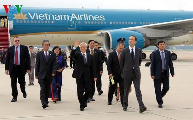 Tổng Bí thư đến Washington DC, bắt đầu chuyến thăm Hoa Kỳ