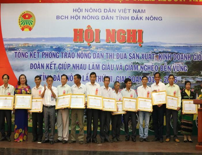 Đăk Nông: Gần 24.000 hộ hội viên đạt danh hiệu Nông dân sản xuất kinh doanh giỏi