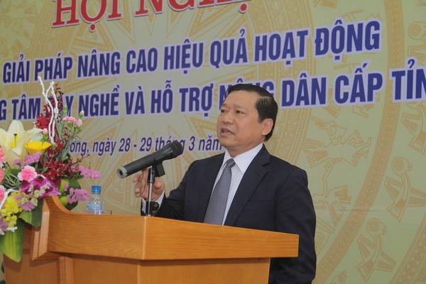 Chủ tịch Hội NDVN Lại Xuân Môn phát biểu khai mạc Hội nghị