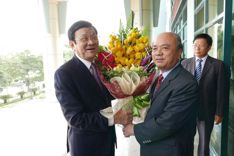 Chủ tịch nước Trương Tấn Sang làm việc với T.Ư Hội NDVN